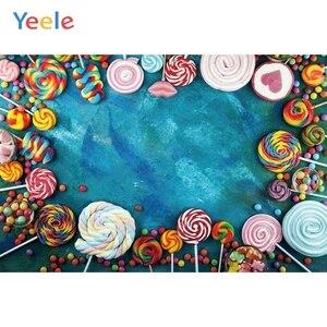 Image 5 - Yeele Suikerspin Bar Lolly Donuts Roze Verjaardag Fotografie Achtergronden Aangepaste Fotografische Achtergronden Voor Foto Studio