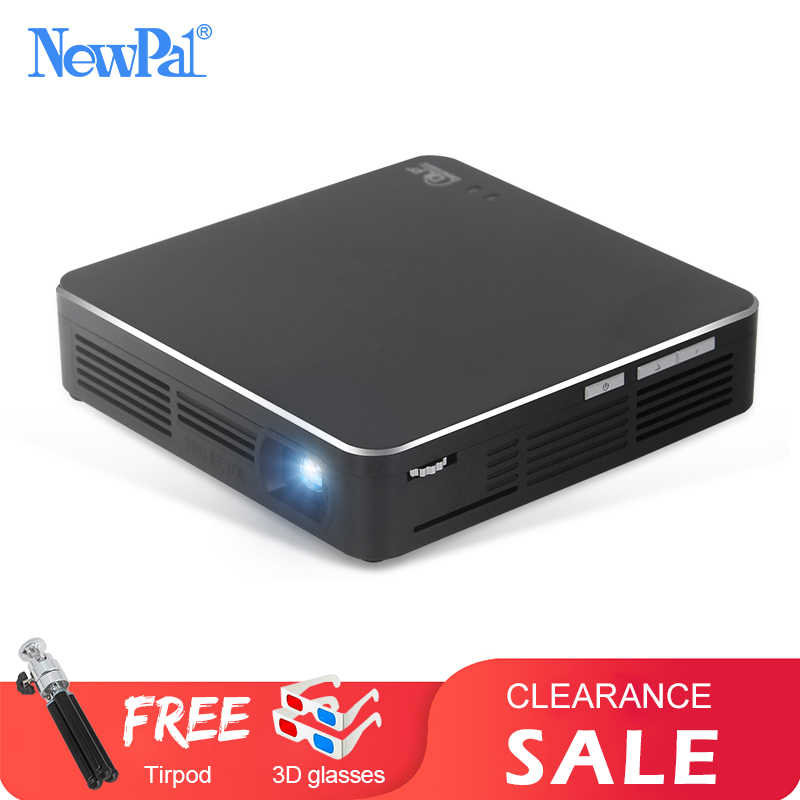 NewPal EHD200 Projector Mini DLP Projector Full HD 1080P Android5.0 Beamer Miracast Airplay with 4000mah Battery Mini Projector