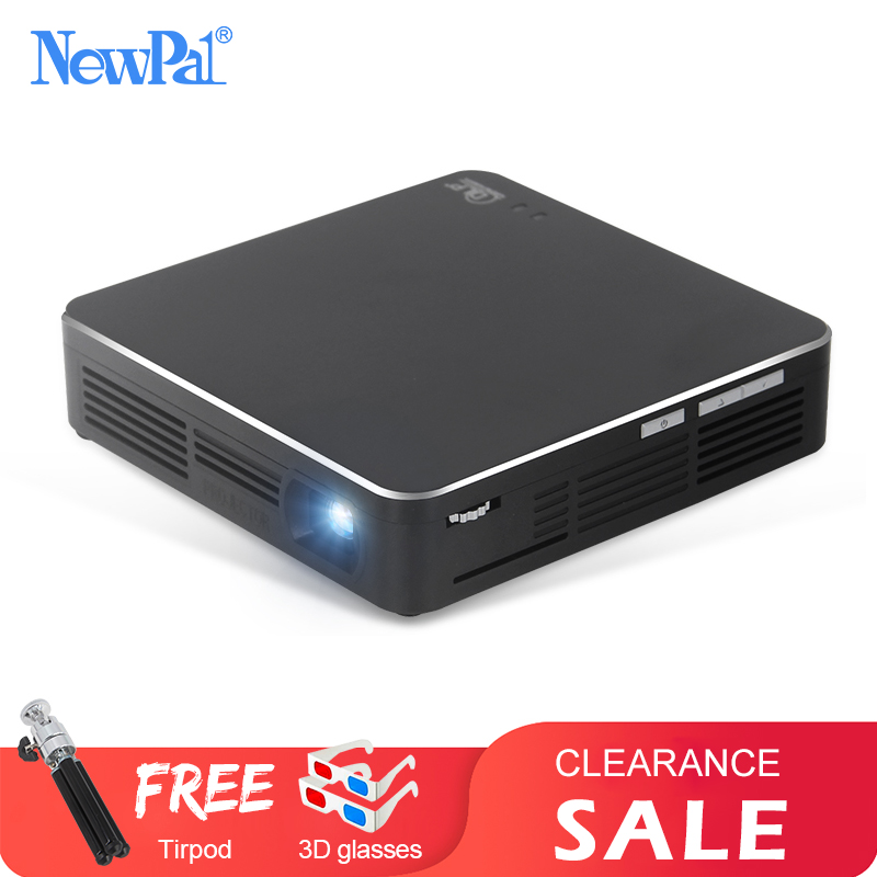 Projecteur NewPal EHD200 Mini projecteur DLP Full HD 1080P Android5.0 projecteur Miracast Airplay avec Mini projecteur à batterie 4000mah
