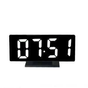 Alarm-Clock Desk Ports Led-Table Snooze-Display Time Digital Night Usb-Charger