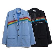 2021 весенние женские блейзер с принтом радуги женский пиджак