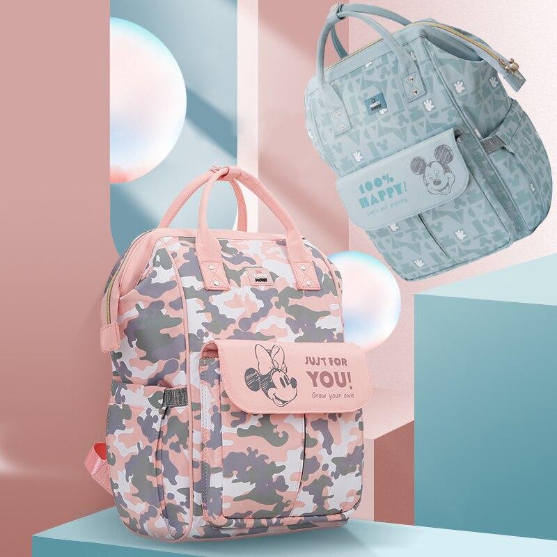 Disney sacs à couches pour maman imperméable grande capacité maternité sac à dos Bebe bébé soins momie Nappy sac voyage poussette sacs USB