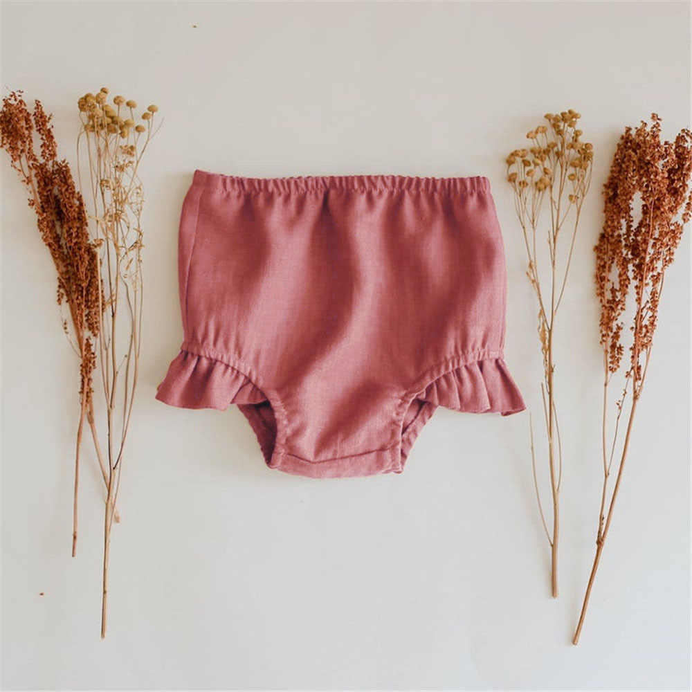 organic shorts summer linen baby bloomers