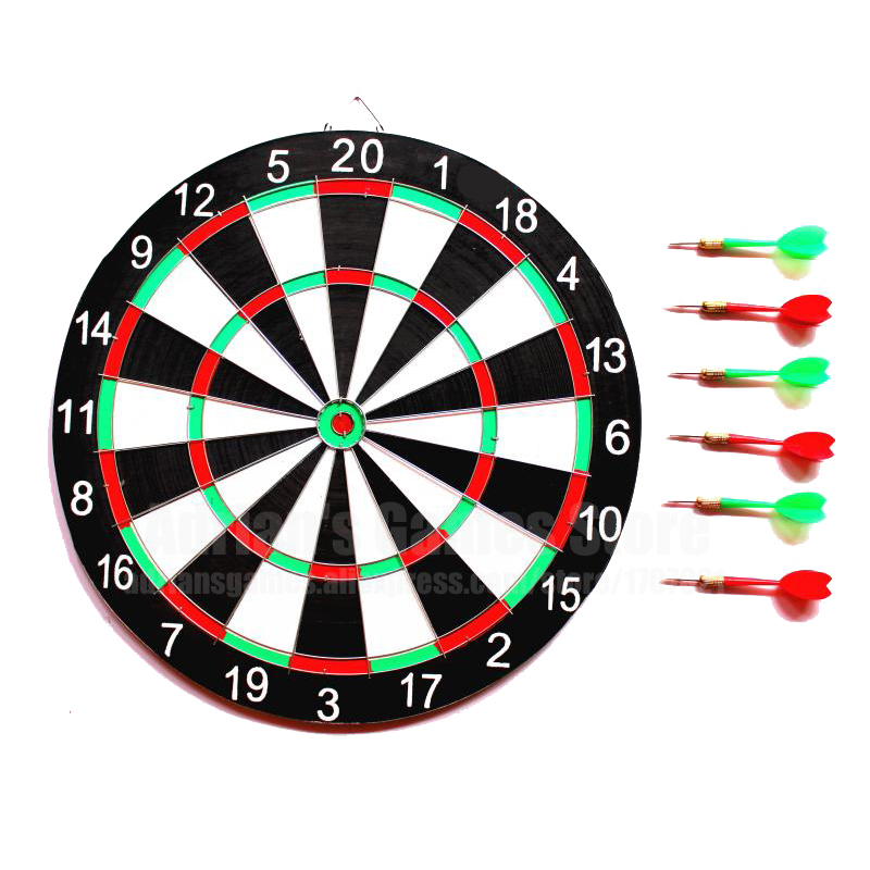 6 Darts & Darts Board Set 12/15/17 Inch Family/Office Game Dartboard Sports Exercise Darts Game