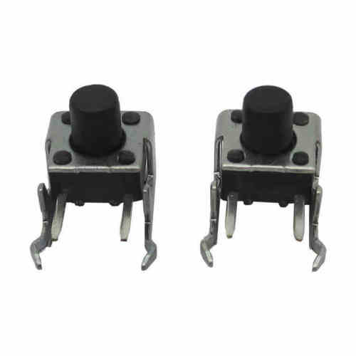 50Pcs 6x6x7mm Right Angle 2 Pin Momentary Tactile Tact Push Button Switch Diy Electronics