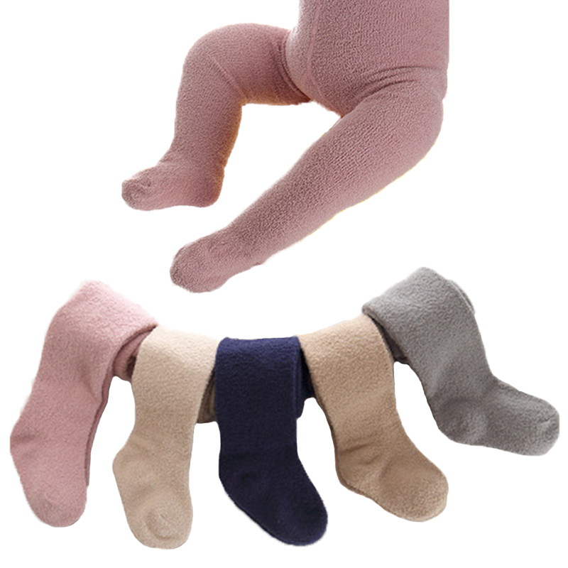 High Quality Girls Boys Winter Warm Tights Coral Fleece Stockings Baby Girls Clothes Pantyhorse Pants Collant Luxe Baby Tights