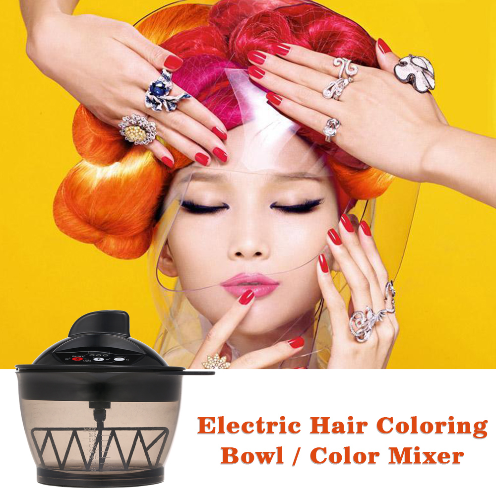 Electric Hair Coloring Bowl UK Adapter Electric Hair Cream Mixer Automatic Mixer For Hairs Color Mixing Hair Dyeing Kit DIY Tool