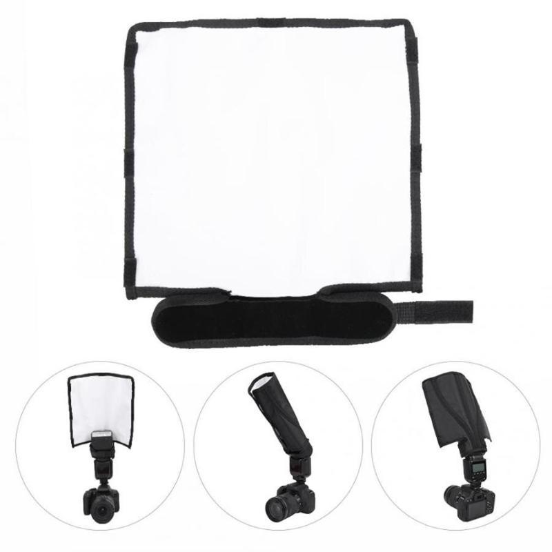 Foldable Photography Flash Reflector Softbox Diffuser Flash Light Speedlite Color Temperature Reflector