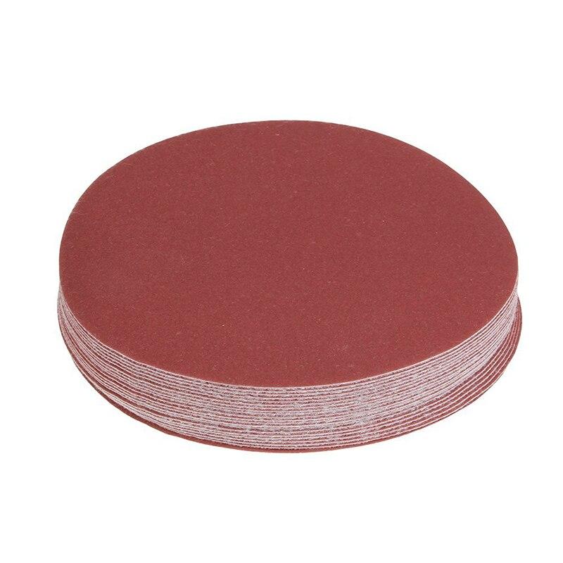 150mm 6 Inch Sanding Discs 320 Grit Sandpaper Circular Pads Pack Of 20