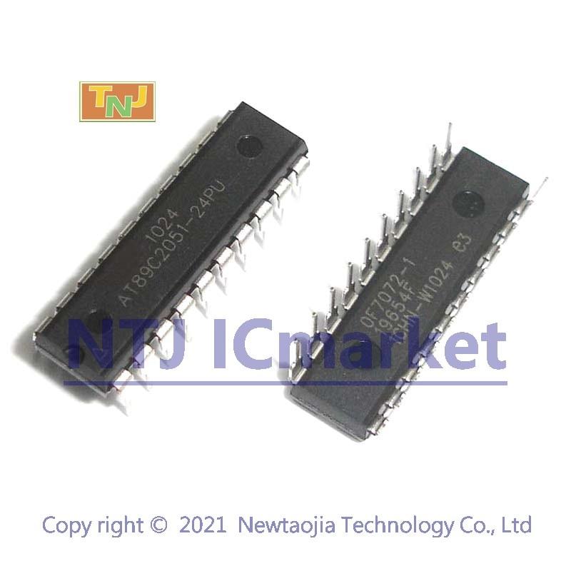 Из 2 предметов AT89C2051-24PU DIP-20 AT89C2051 8-битный микроконтроллер с 2 к байт Flash IC чип