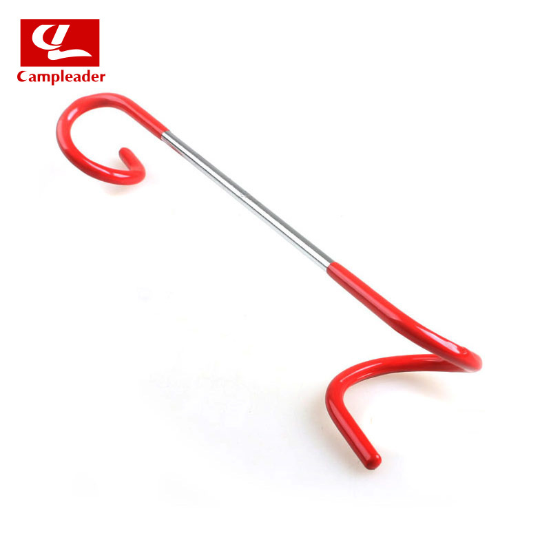 Outdoor Camping Tent Car Lamp Hook Camping Lamp Hanging Rod Multi-functional S Type Two-Way Rack Rough