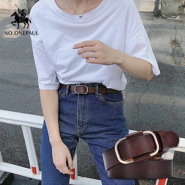 New fashion designer ladies luxury authentic leather belts 1