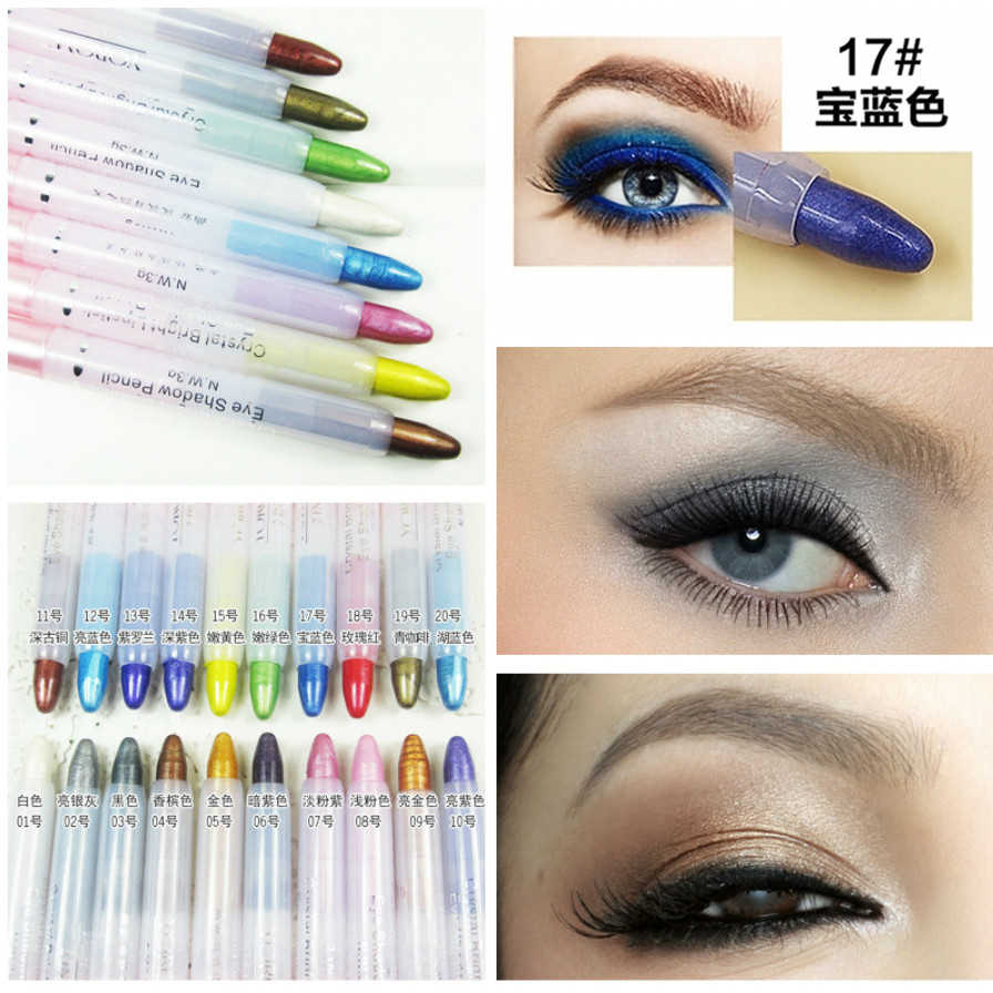 Fashion Biru Eye Shadow Pena Eyeshadow Makeup Pallete Eye Shadow Palet Shimmer Bersinar Berlian Eyeshadow Bubuk Kosmetik