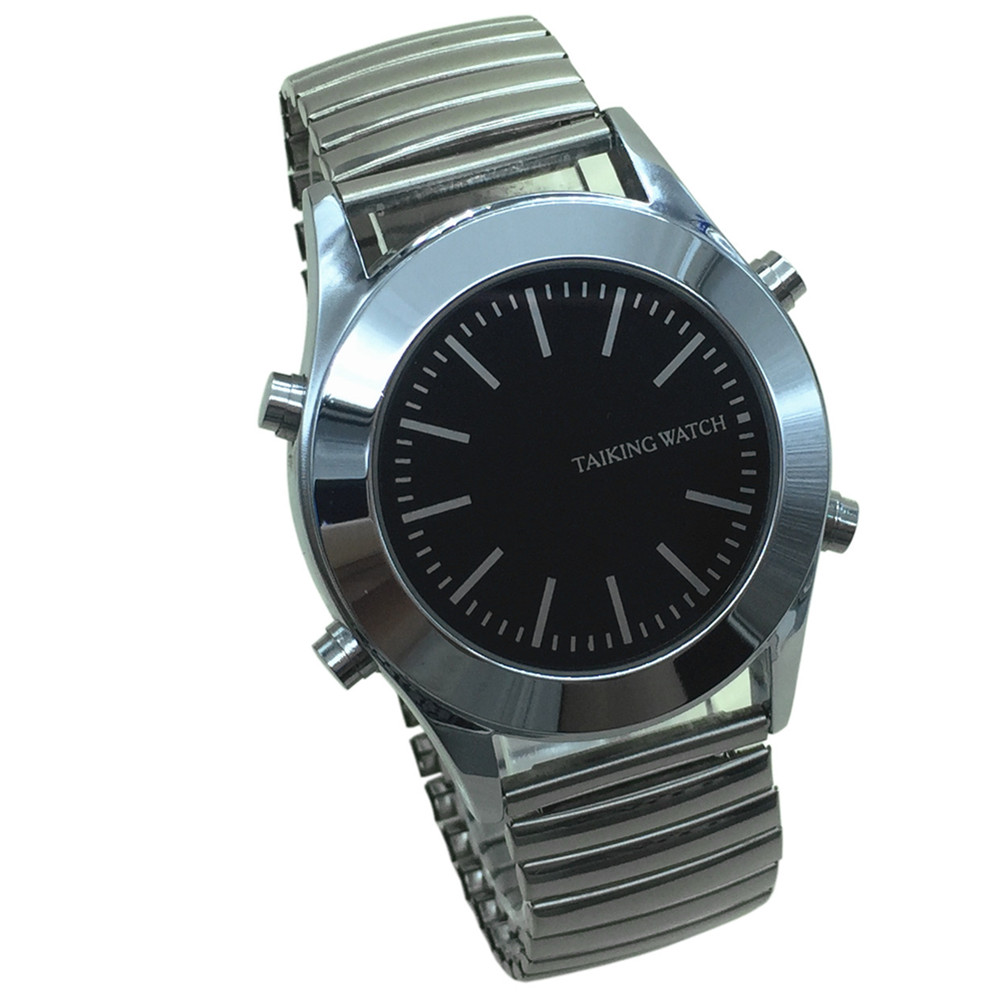 Arabic Talking Watch for Blind People or Visually Impaired with Alarm Quartz Watch in Stock(China)