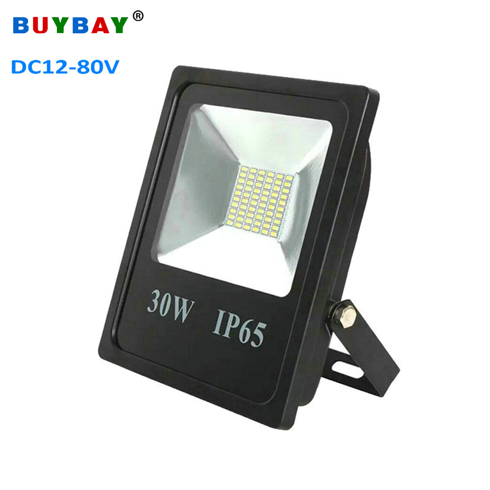 BUYBAY 10W 20W 30W 50W LED Floodlight DC12V 24V 80V Brand Outdoor Lighting Projector Reflector Lamp Ship Boat Yacht Flood Light