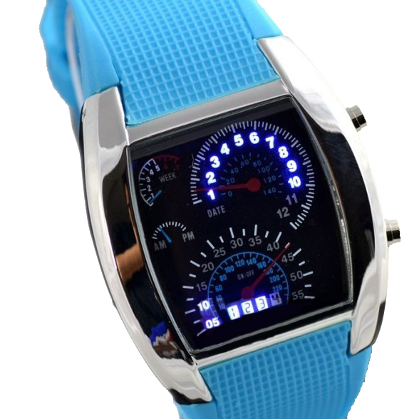 band digital Men Military LED Backlight Digital Quartz Wristwatch Sports Watch Rubber Band Adjustable Brightness C44 (5)