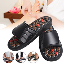 2019 Hot Acu-Point Slippers Accupressure Massage Foot Massager Flip Flop Sandals for Women Men FC55 men summer shoes slippers massage acupoint health accupressure chinese rotative foot for women of men