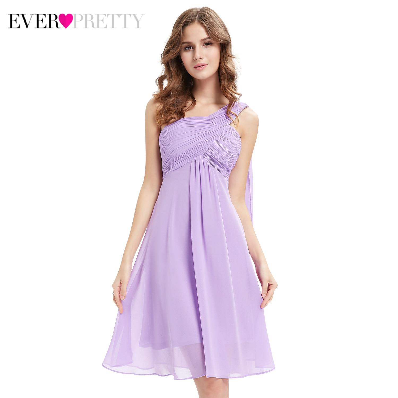 Candy Color Cocktail Dresses Ever Pretty A-Line Sleeveless One-Shoulder Elegant Formal Dresses HE03537 Abito Da Cocktail
