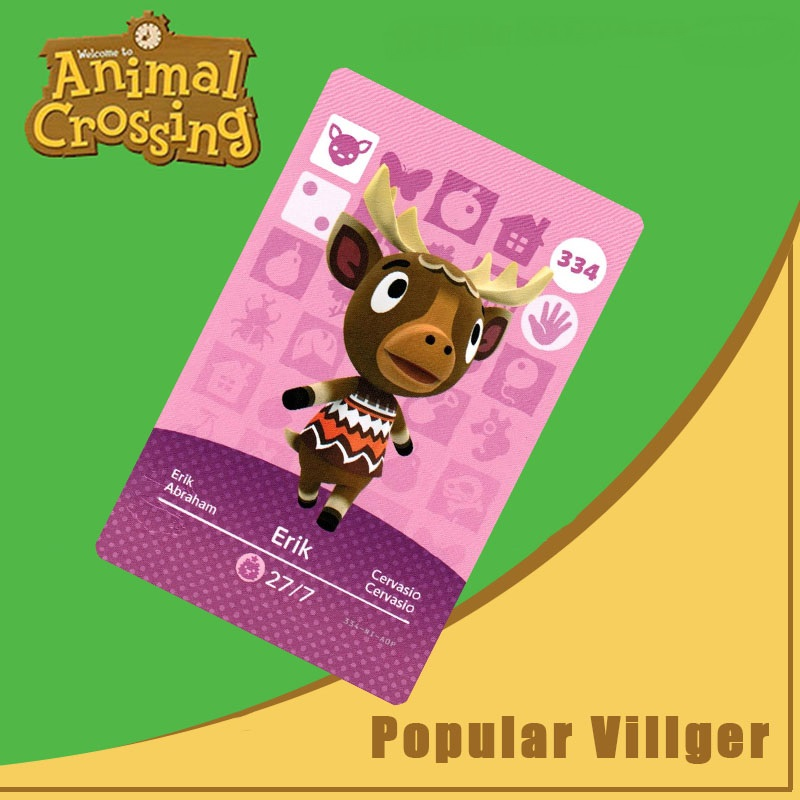 334 Animal Crossing Amiibo Card Erik Amiibo Card Animal Crossing Series 4 Erik Nfc Card Work For Ns Games Dropshipping