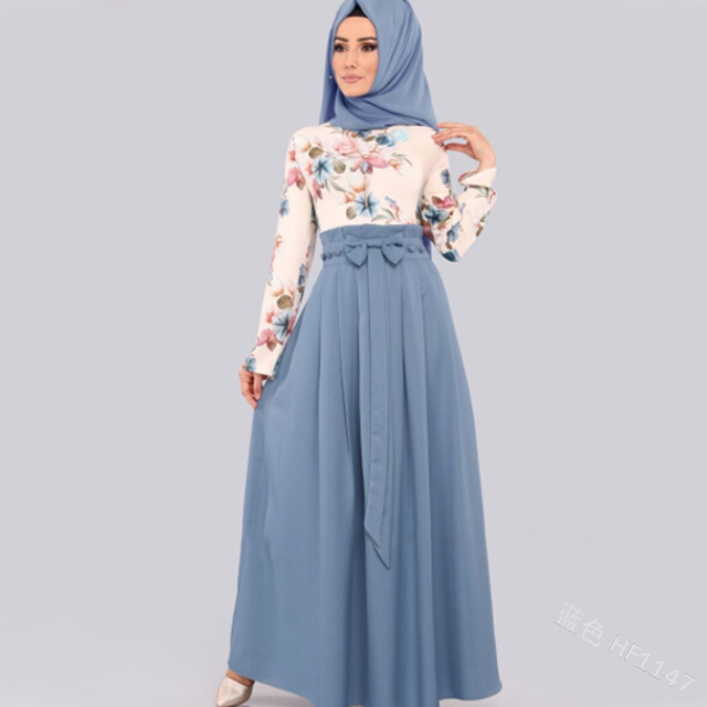 Long Turkish dress with beautiful colors
