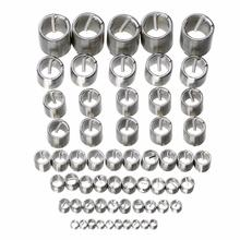 60Pcs High Strength Stainless Steel M3-M12 Thread Repair Insert Kit Set Silver For Hardware Tools