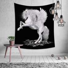 Настенная скатерть с животными львиный гобелен мандала натуральное