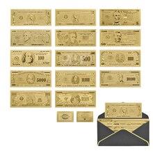 Прямая поставка Полный комплект банкнот доллар купюр американская золотая фольга банкноты поддельные деньги Банкноты USD Prop Money украшение д...