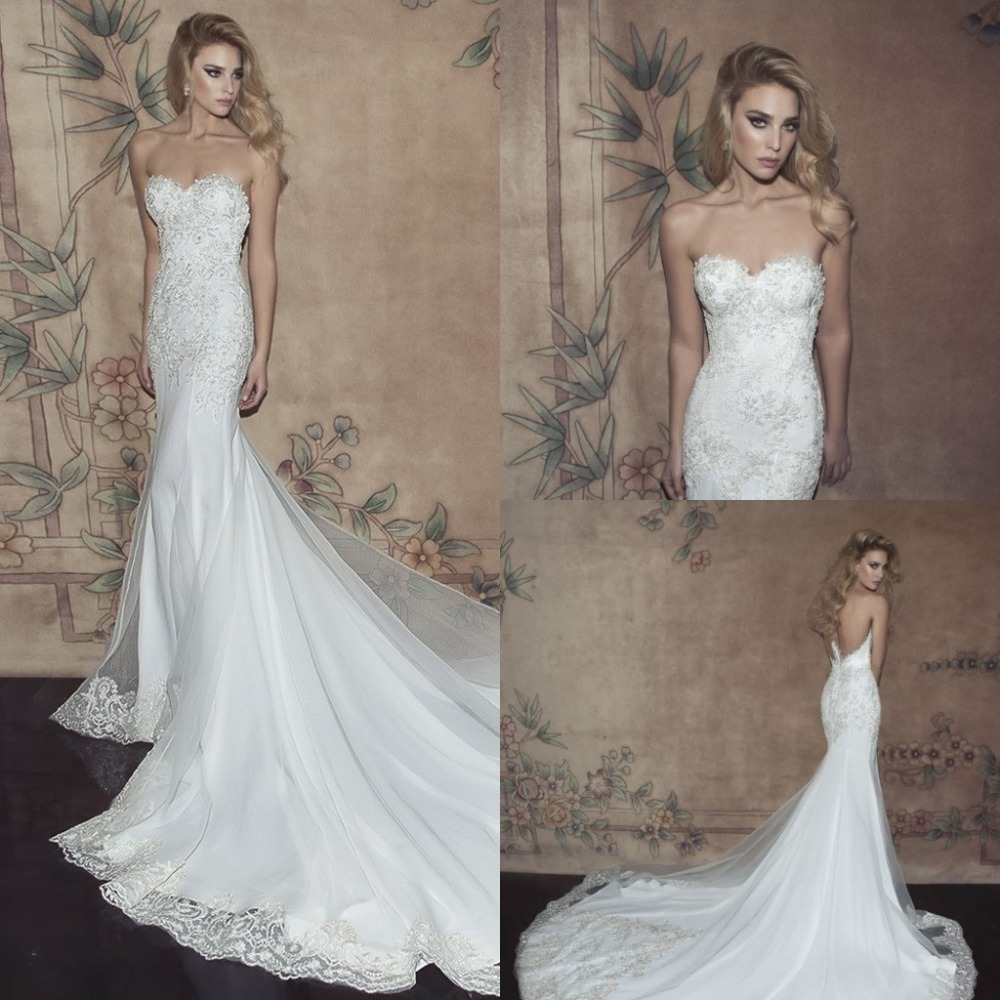 Sweetheart Mermaid Appliques Sleeveless Backless Organza Casamento Lace Bridal Gown Fashionable Mother Of The Bride Dresses