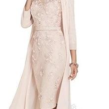 Light Pink Women's Mother of The Groom Dresses Tea Length La