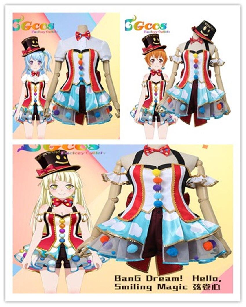 BanG Dream! Matsubara Kanon Kitazawa Hagumi Tsurumaki Kokoro Smiling Magic Uniform Cosplay Costume Free Shipping