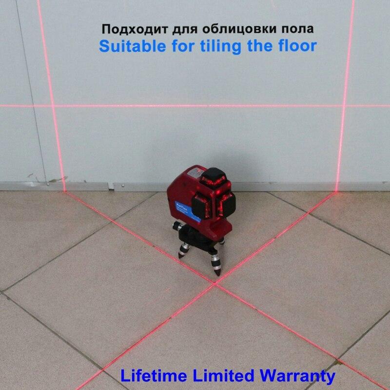 Kaitian 12 ライン 3D レーザーレベルセルフレベリング 635nm 360 水平と垂直クロス超強力な赤色レーザービームラインツール  グループ上の ツール からの レーザーレベル の中 2