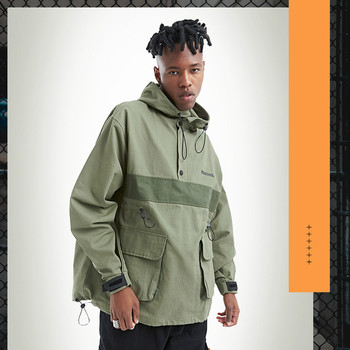 Multi-pocket Cargo Jacket Men's Tide Brand Japanese Style Youth Hip-hop Color Stitching Sports Windbreaker Loose Coat