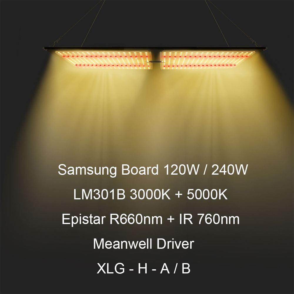 Samsung Board LM301H/LM301B SK Dimmable 120W 240W Quantum LED Grow Light Full Spectrum 3000K 5000K 660nm 760nm for Indoor Plants