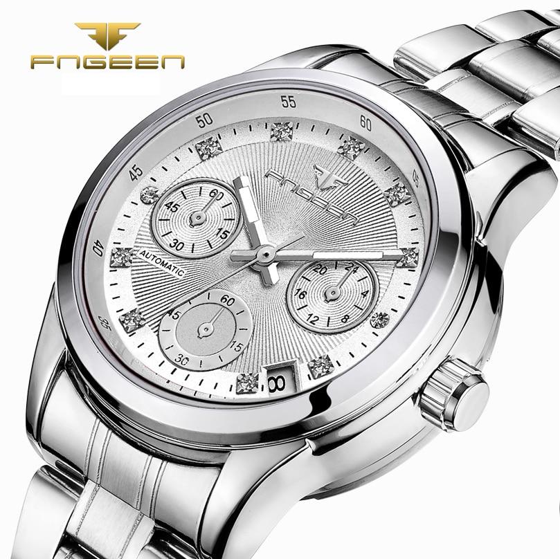 Women's Luxury Mechanical Watch Women's Watches Auto Date Automatic Watch Women Watches Fashion Crystal Ladies Clock Reloj Mujer