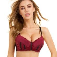 MiaoErSiDai المرأة مثير البرازيلي الوردي رفع البرازيلي مبطن الملابس الداخلية عالية الجودة ملابس داخلية عالية الجودة حجم كبير حمالة 32 42 C G