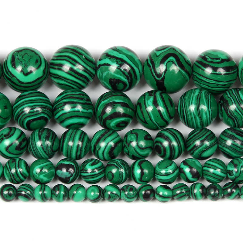 12mm Striped Synthetic Malechite Beads For Jewelry Making 12mm Round Gemstone 16 inches Colorful Striped Beads