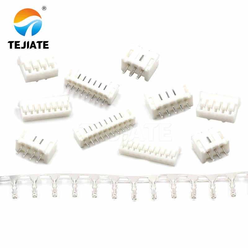 50 Pcs PH2.0MM Konektor 2/3/4/5/6/7/8/9/ 10/12P Adaptor Ternimal Straight Pin Base + Plug + Reed