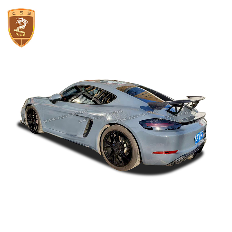 Car Spoiler Fit for Porsche <font><b>718</b></font> <font><b>Boxster</b></font> Carbon Fiber Material Racing Sedan Car Rear GT4 2016- image