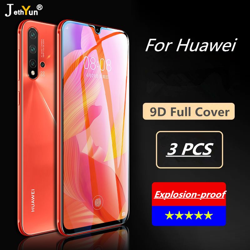 3PCS Full Cover Tempered Glass For Huawei P20 P30 Pro Mate 20 10 Lite Screen Protector Protective For Huawei Mate 30 Pro Film