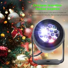 4W LED Stage Lamp AC85-265V DMX 16 Xmas Theme Moving Head Party Club Dance Light Safety and Reliability Long Service Life
