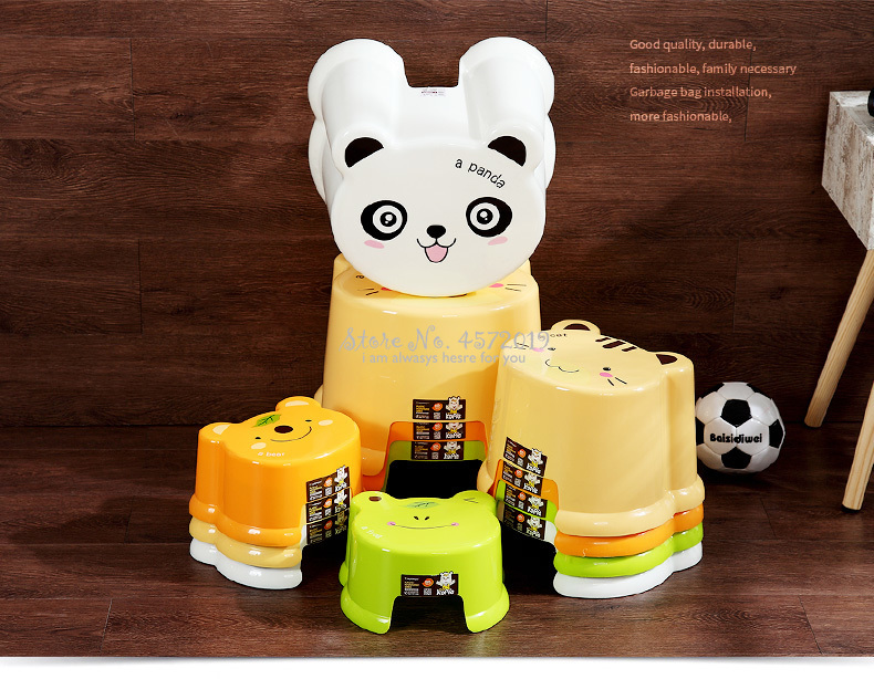 B Cartoon Low Stool Plastic Small Bench Home Living Room Adult Children Stool Change Shoe Bench Full Dress Table Stool Chair