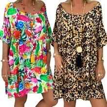 Sexy dresses party night club dress 2019 Women Leopard Print Autumn Beach Party Dresses Casual Vestidos Plus Size 5XL D30