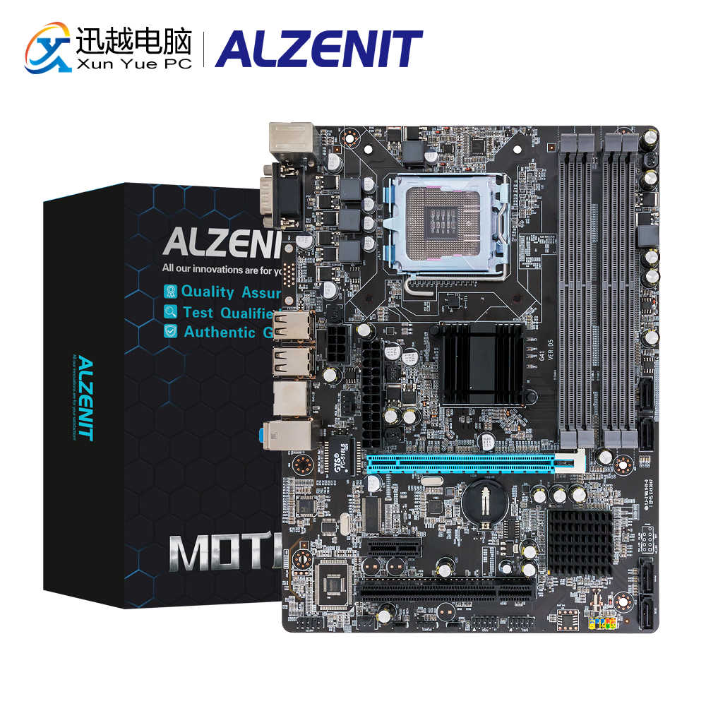 ALZENIT P45M-D2เมนบอร์ดP45สำหรับLGA 771/775 DDR2 8GB SATA2.0 USB2.0 COM M-ATX Server Mainboard