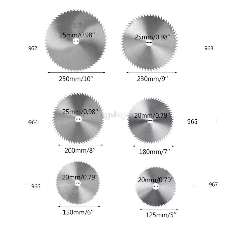 Ultra Thin Steel Circular Saw Blade 100/125/150/180/200mm Bore Diameter 16/20/25mm Wheel Cutting Disc J30 19
