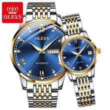 OLEVS Ultra-thin Simple Classic Couple Mechanical Watch Genuine Business Waterpr