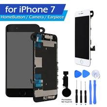 Iphone 7 substituição da tela com botão casa lcd tela de toque digitador do fone ouvido alto-falante assembléia ferramentas para iphone 7