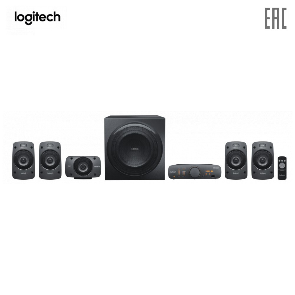 Home Theatre System Logitech 980-000468 Home Audio Video acoustic systems speakers music column subwoofer Z906 5.1