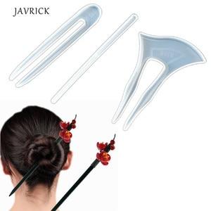 3 шт прозрачные шпильки формы для волос силиконовые формы для волос головной убор заколка для волос эпоксидная смола литье формы для изгото...