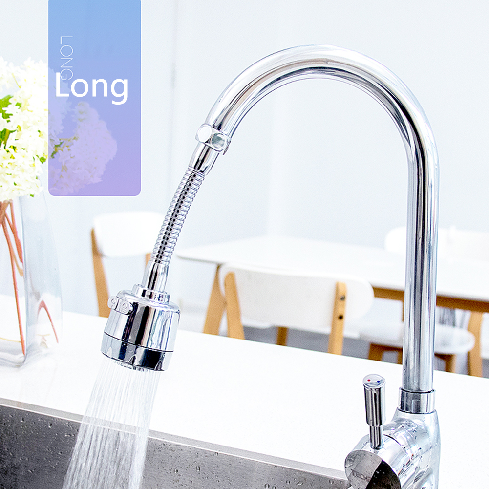 Faucet Adapter Filter Water Saving Extender Kitchen Bathroom Anti-splash Pressurized Home Durable 360 Degree Rotary Accessories