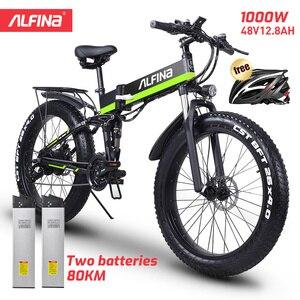 ALFINA FX-01 Electric bike ebike 48V1000W electric mountain bike 40km/h 4.0 fat tire Electric Bicycle beach E-bike electric